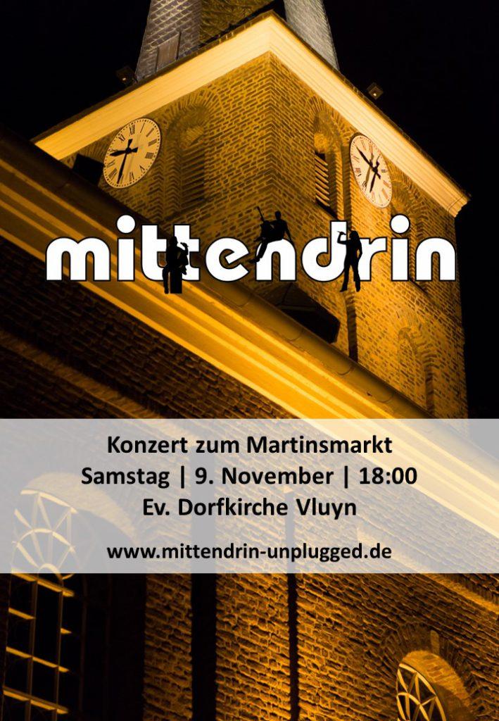 Plakat Mittendrin Konzert Martinsmarkt 2019